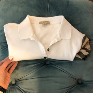 Authentic BURBERRY White Polo M