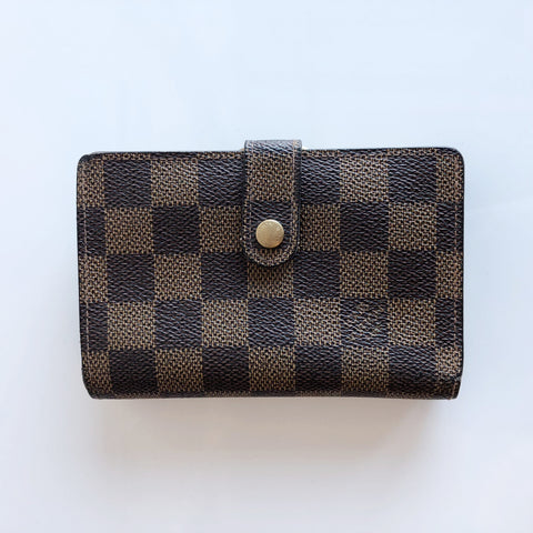 Authentic LOUIS VUITTON French Damier Ebene Wallet