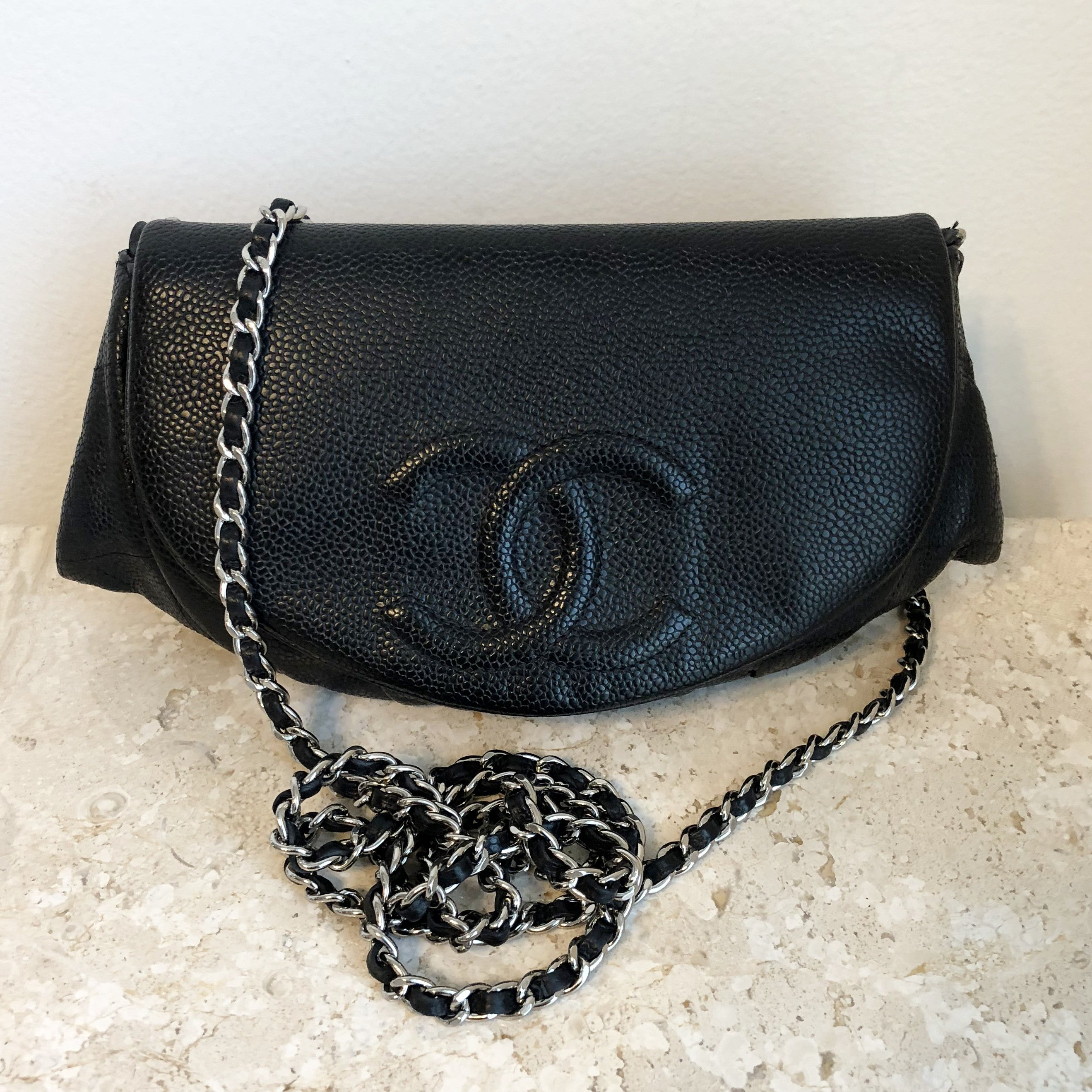 Authentic CHANEL Half Moon WOC