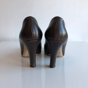 Authentic GUCCI Interlocking GG Brown Pumps Size 7.5