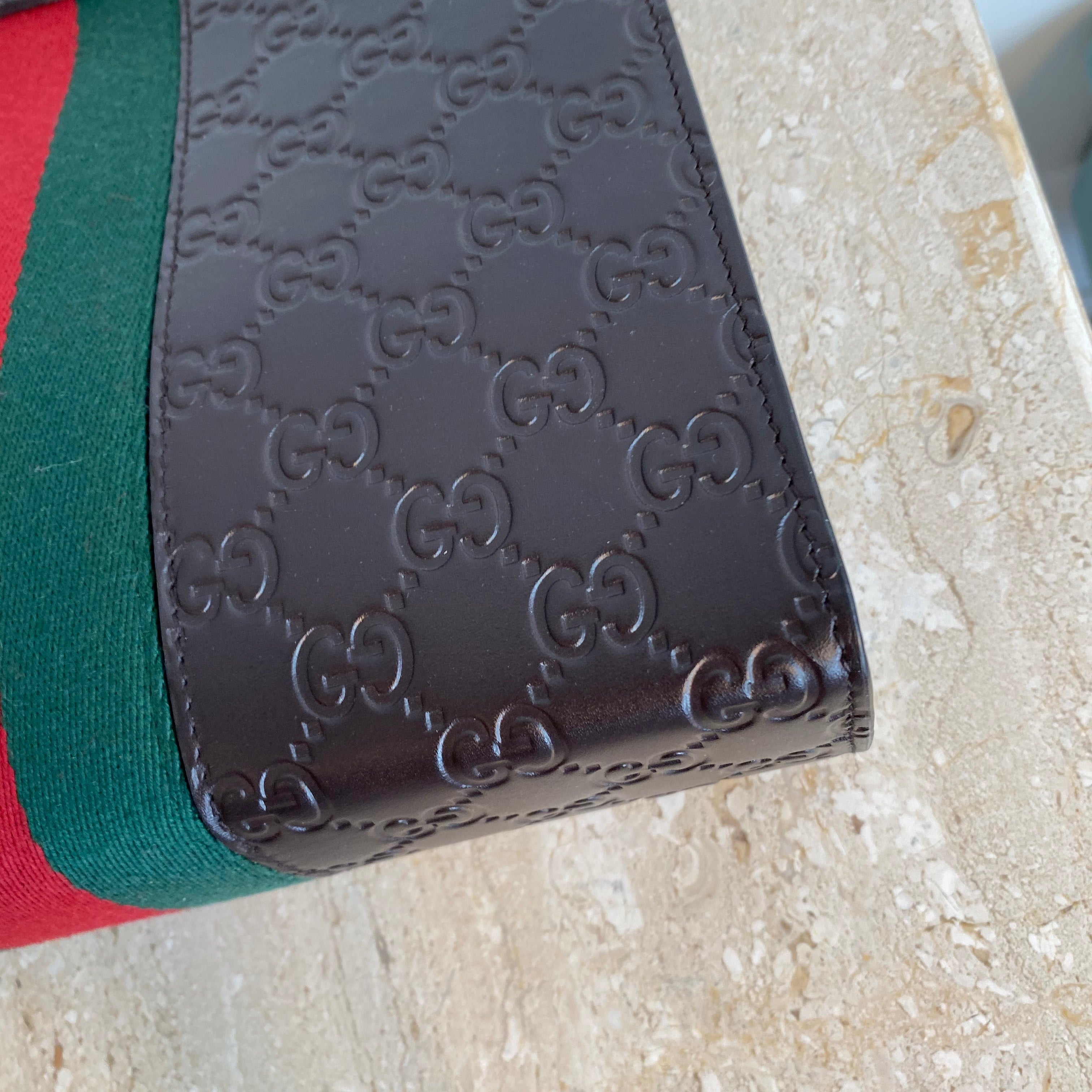 Authentic Gucci Brown GG Embossed Pouch/Clutch/Cosmetics Case