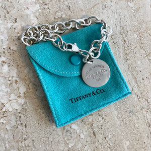 Authentic TIFFANY & CO. 1837 Round Tag Bracelet #3