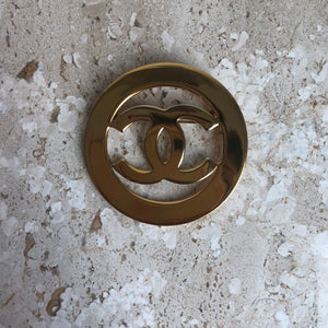 Authentic CHANEL Vintage Large CC Brooch