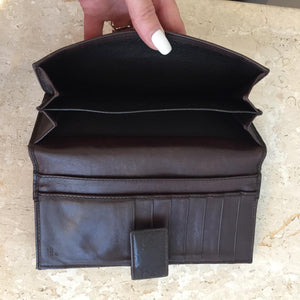 Authentic GUCCI Brown Leather Guccissima Wallet