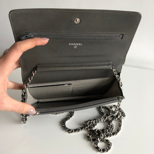 Authentic CHANEL Grey WOC