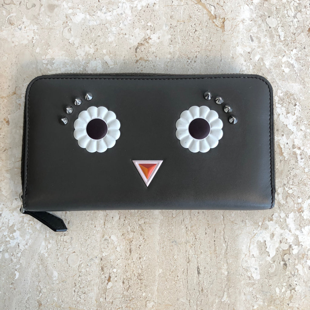 Authentic FENDI Monster Grey Wallet