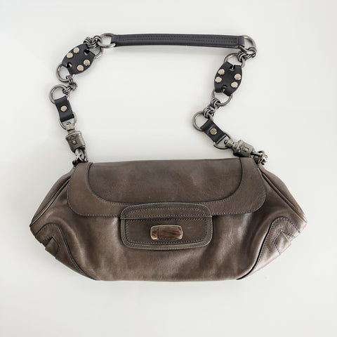 Authentic PRADA Leather Shoulder Bag/Clutch