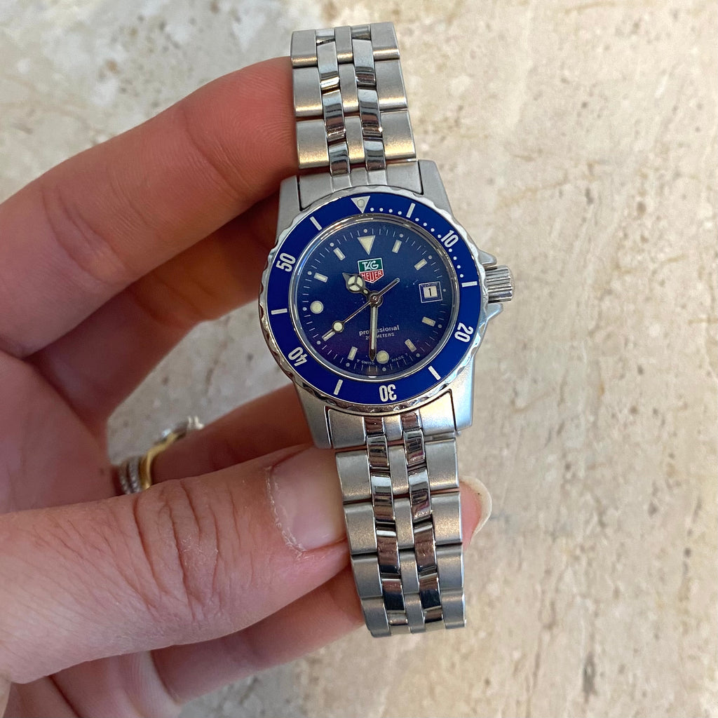 Authentic TAG HEUER Stainless w/Blue Dial Ladies Watch