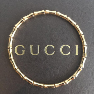 Authentic GUCCI Bamboo 18k Rose Gold Bracelet