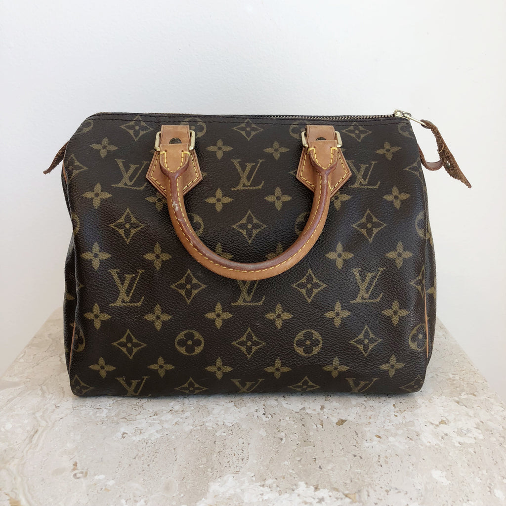 9cf692c1773b Authentic LOUIS VUITTON Monogram Speedy 25