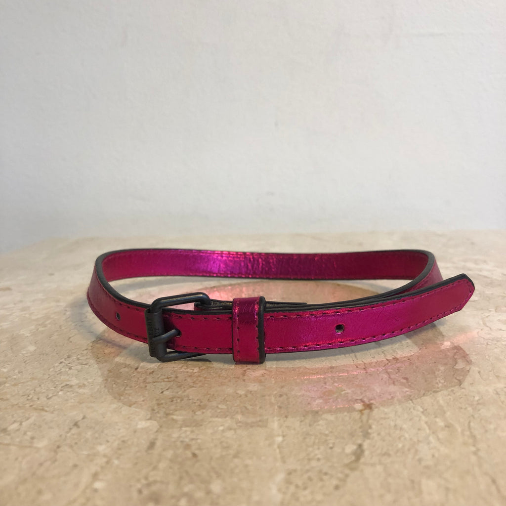 Authentic BURBERRY Metallic Pink Dog Collar
