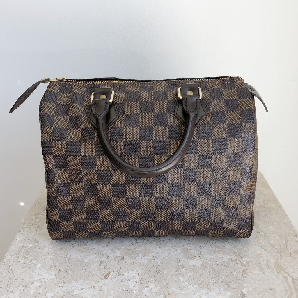 Authentic LOUIS VUITTON Speedy Damier Ebene 25