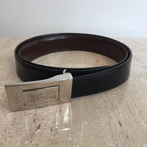 Authentic SALVATORE FERRGAMO Reversable Black/Brown Unisex Belt