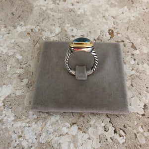 Authentic DAVID YURMAN Blue Topaz Ring Size 7