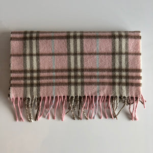 Authentic BURBERRY Cashmere Pink Novacheck Scarf