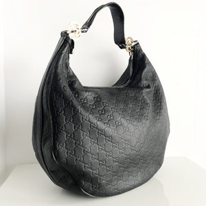 Authentic GUCCI Black Leather Twins Hobo