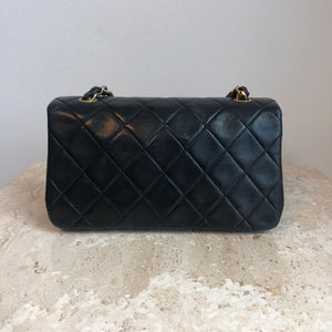 "Authentic CHANEL Vintage Black 7"" Mini 1274404"