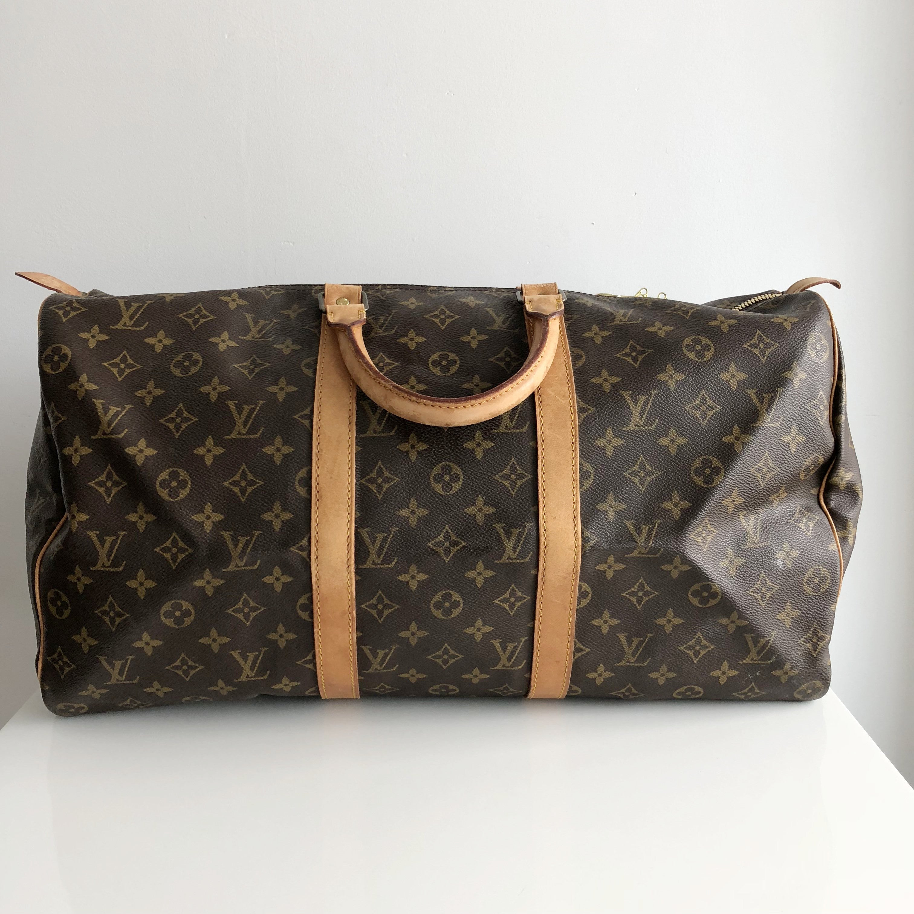 Authentic LOUIS VUITTON Vintage Keepall 50