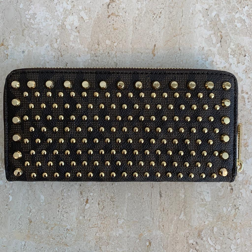 Authentic MICHAEL KORS Zippy Studded Wallet