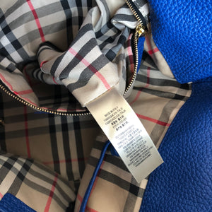 Authentic BURBERRY Maynard Cobalt Blue Tote
