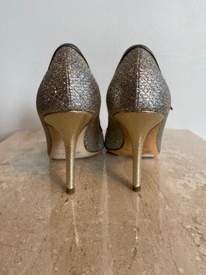 Authentic JIMMY CHOO Mary Jane Peeptoe Shoe  Size 6.5