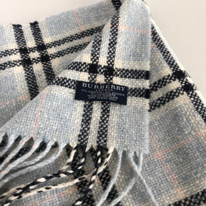 Authentic BURBERRY Blue Check Scarf