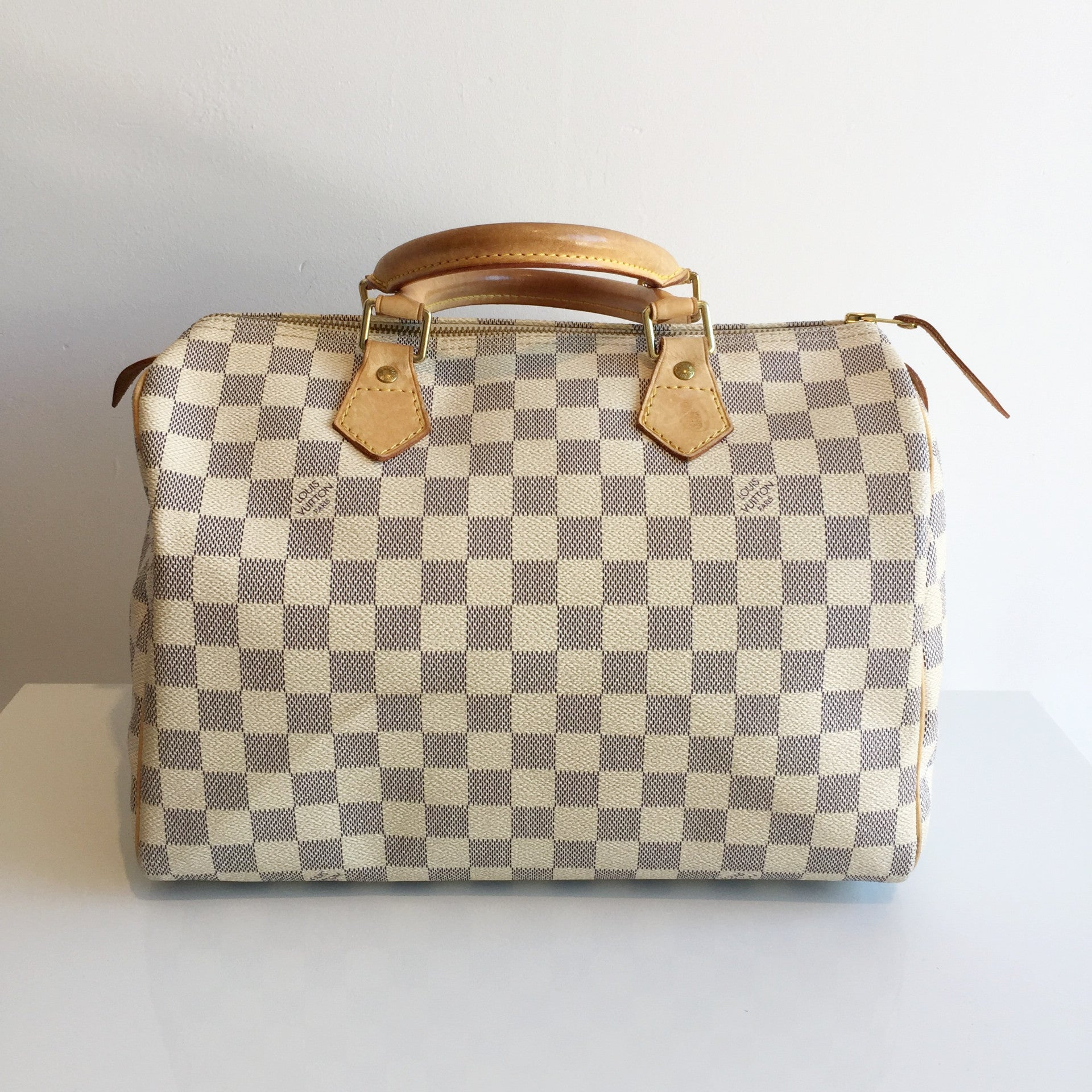 Authentic LOUIS VUITTON Speedy 30 Azur