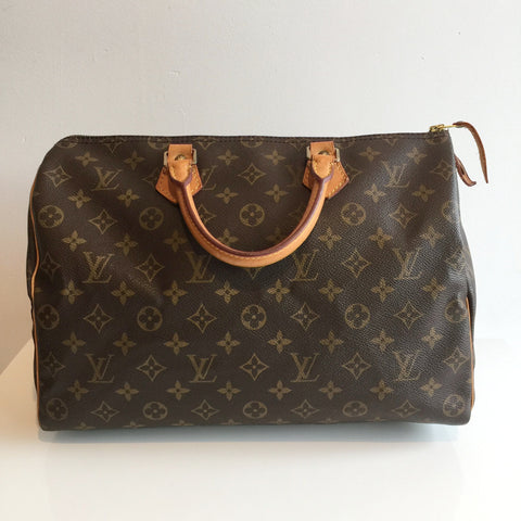 Authentic LOUIS VUITTON Monogram Speedy 35