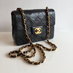 Authentic CHANEL Vintage Mini Square Flap