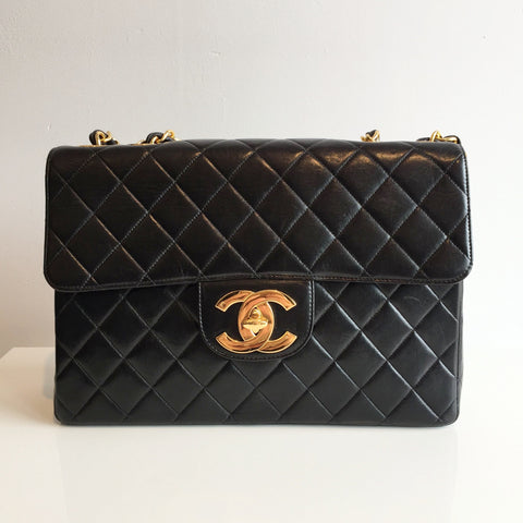 Authentic CHANEL Vintage Jumbo Flap Bag