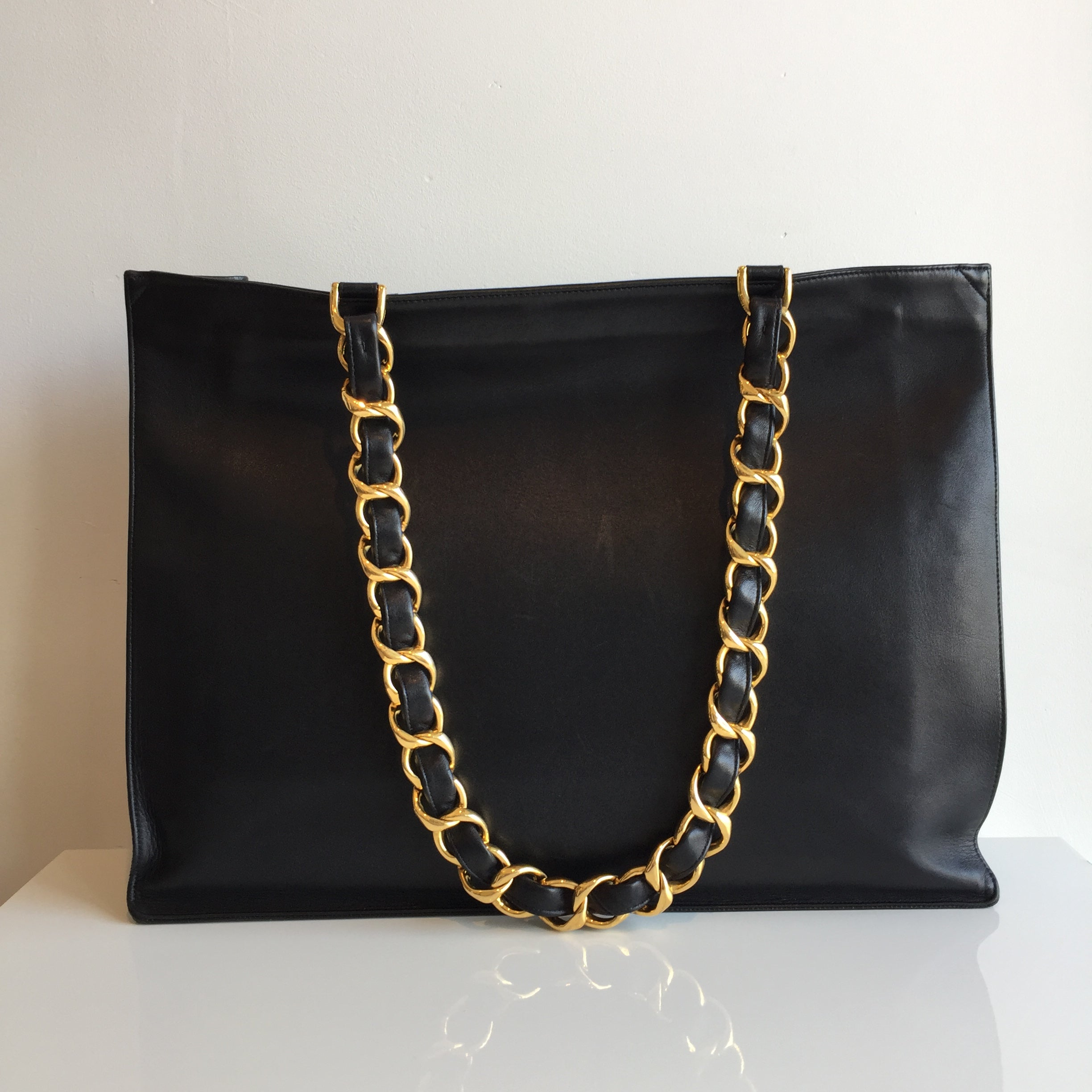 Authentic CHANEL XL Black Tote