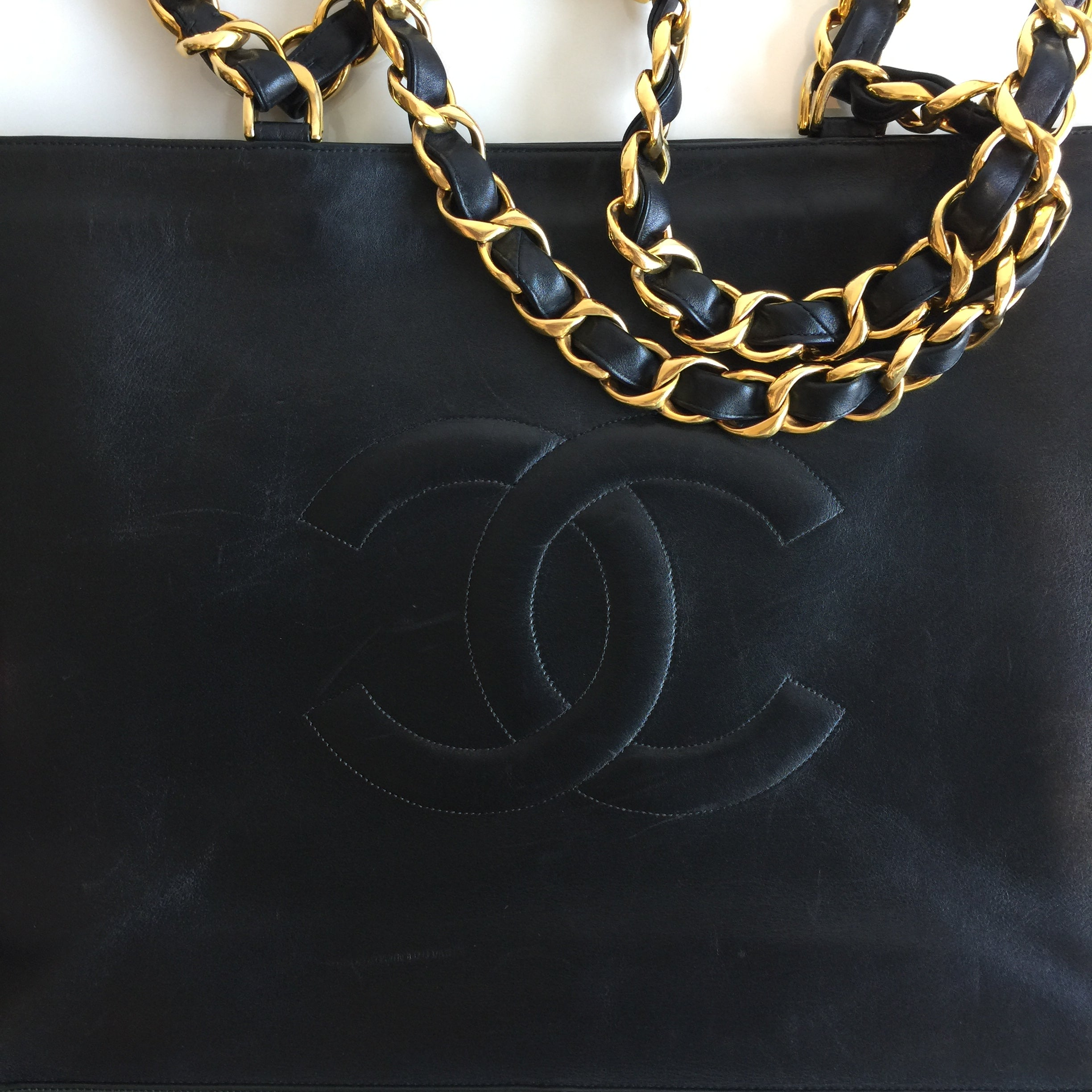 c4c43fab55e4 Authentic CHANEL XL Black Tote – Valamode