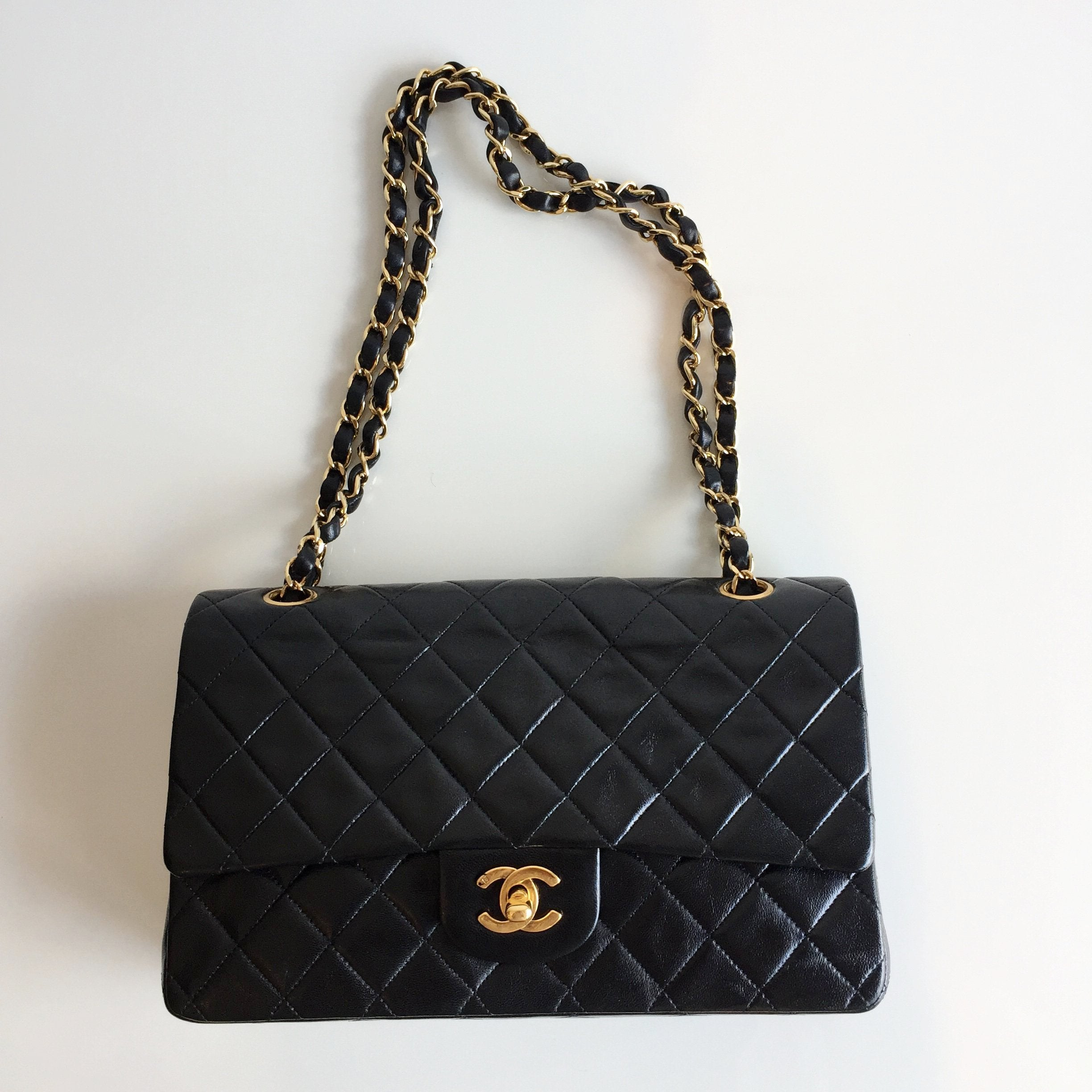 Authentic CHANEL Vintage Double Flap Bag 10""