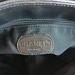 Authentic CHANEL So Black Large Tote Flap Bag