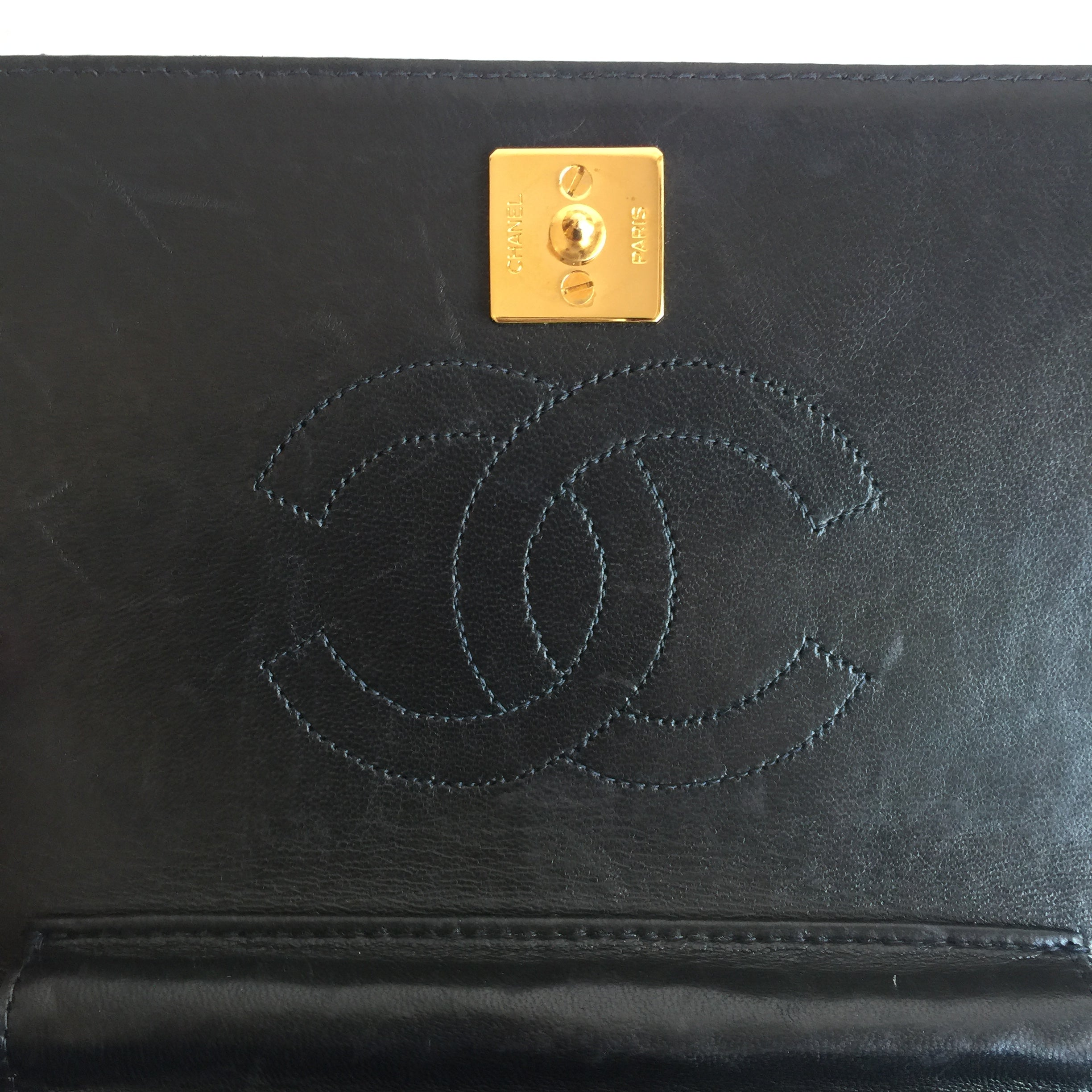 Authentic CHANEL Vintage Small Clutch with Chain