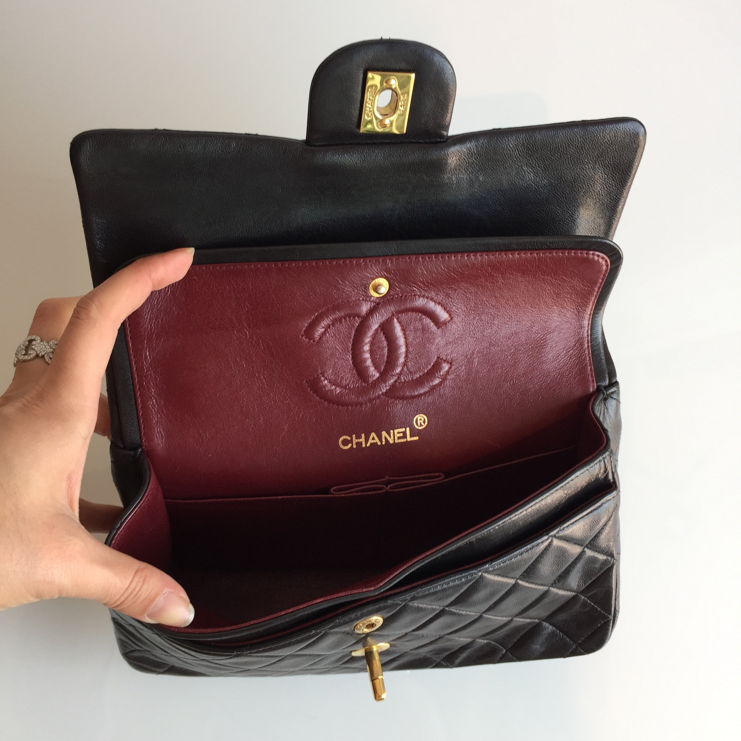 Authentic CHANEL Vintage Double Flap Bag 9""