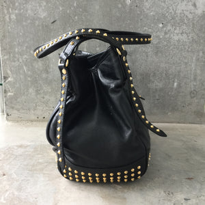 Authentic BURBERRY Canterbury Studded Leather Tote