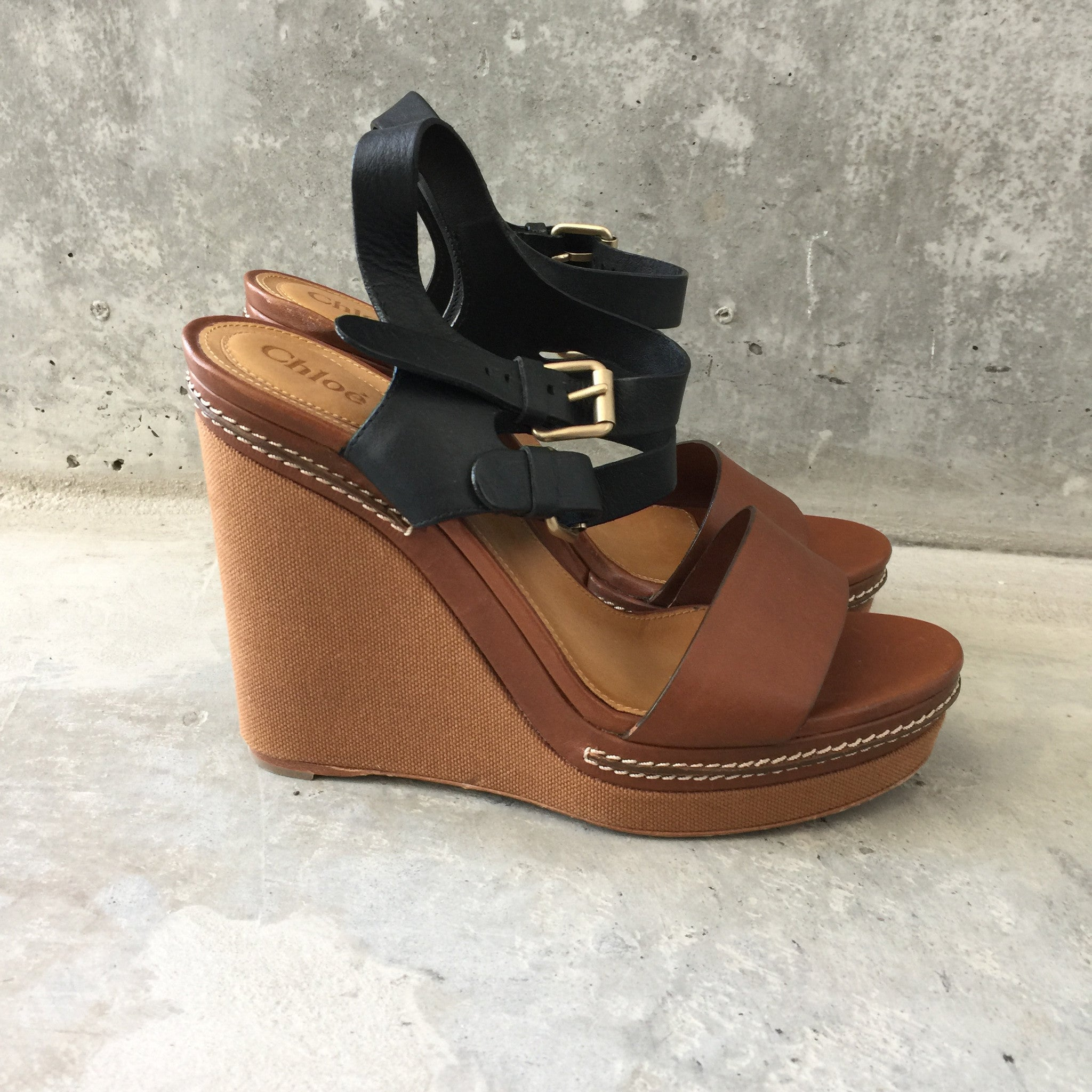 AUthentic CHLOE Wedges Size 8.5