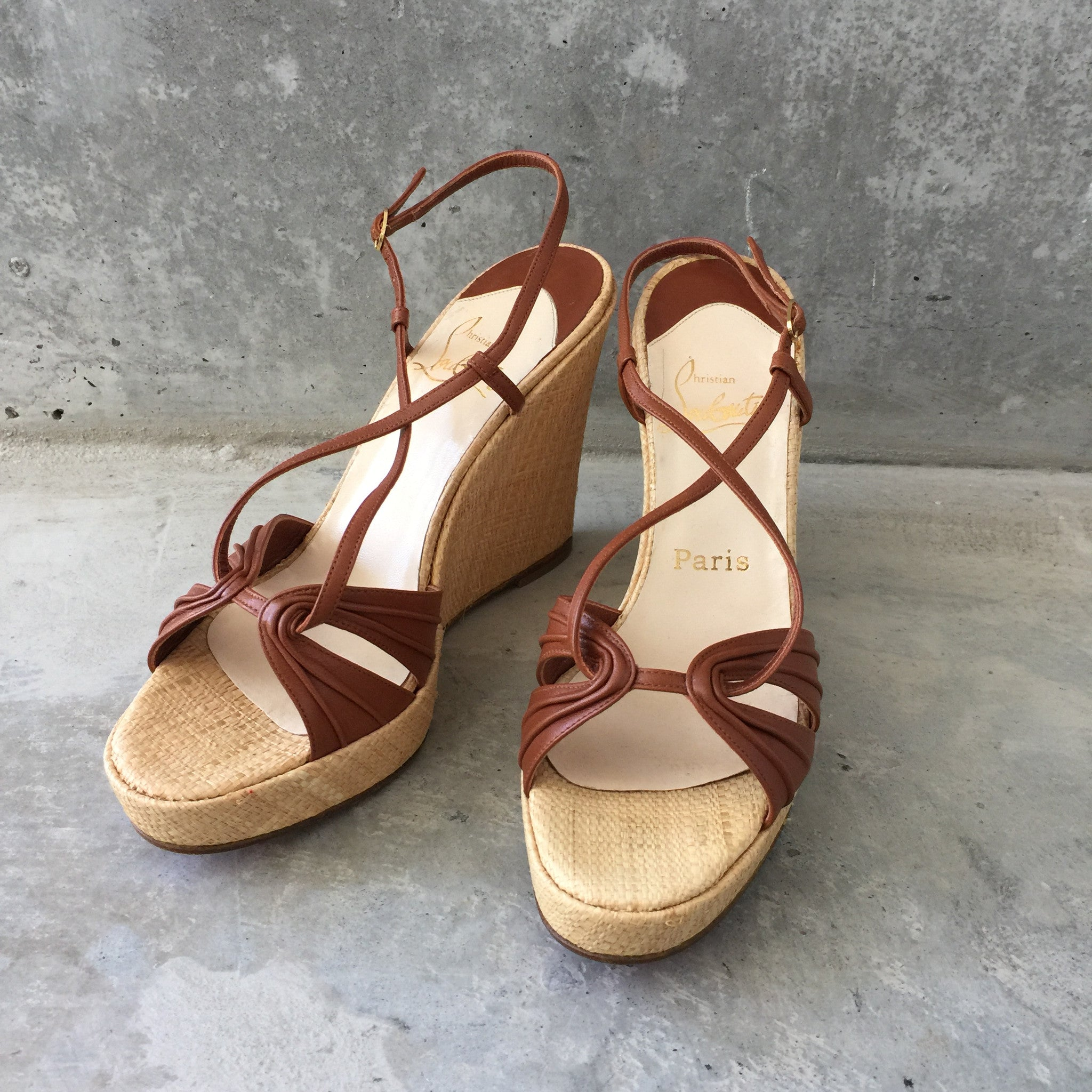 Authentic CHRISTIAN LOUBOUTIN Wedges Size 8.5