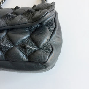 Authentic CHANEL Bubble Pyramid Flap Bag
