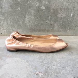 Authentic CHRISTIAN LOUBOUTIN Rose Gold Ballet Size 8.5