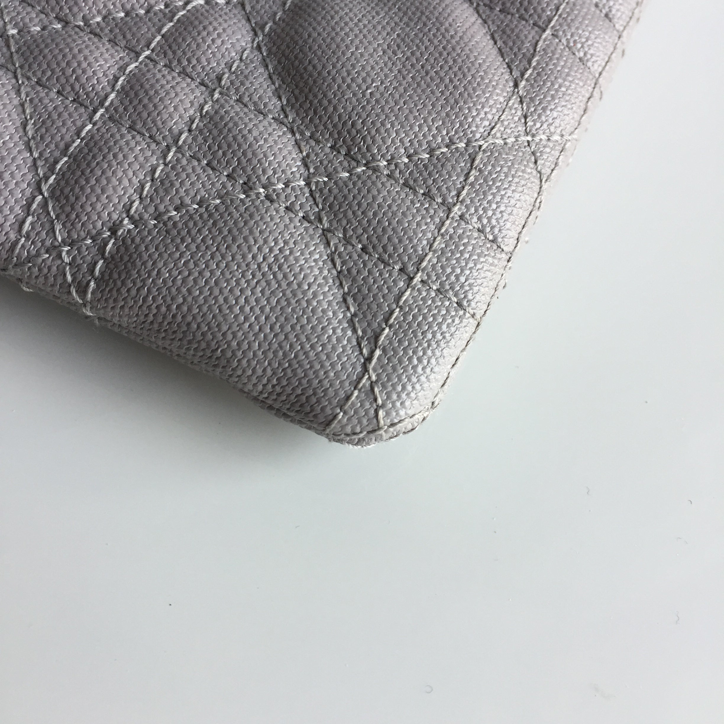 Authentic CHRISTIAN DIOR Coated Canvas Clutch