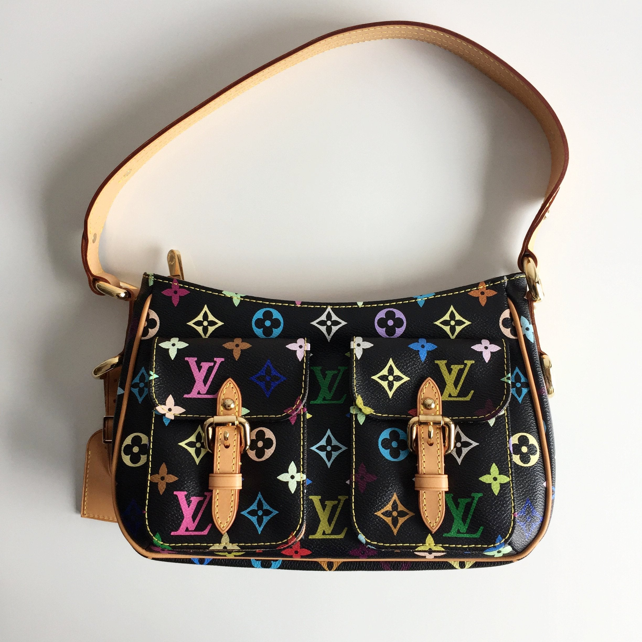 Authentic LOUIS VUITTON Multicolor Lodge PM Black Grenade Bag