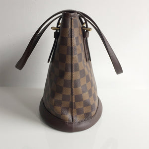 Authentic LOUIS VUITTON Damier Ebene Marais Bucket Bag
