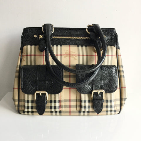Authentic BURBERRY Haymarket Large Tote