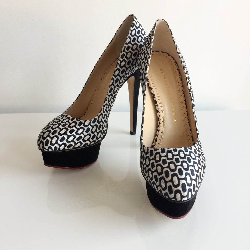 Authentic CHARLOTTE OLYMPIA Dolly Platform Shoes Size 7.5