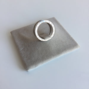 Authentic BVLAGARI 18k White Gold 4 Band Ring