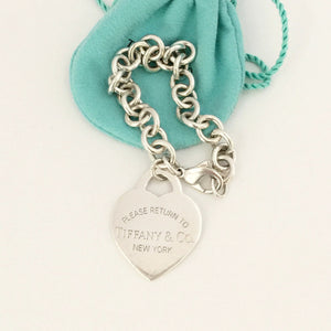 Authentic TIFFANY & CO XL Heart Tag Bracelet