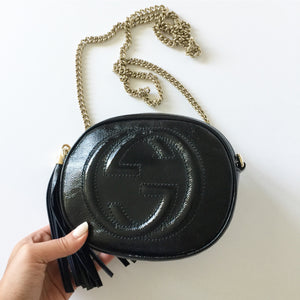 Authentic GUCCI Soho Round Patent Disco
