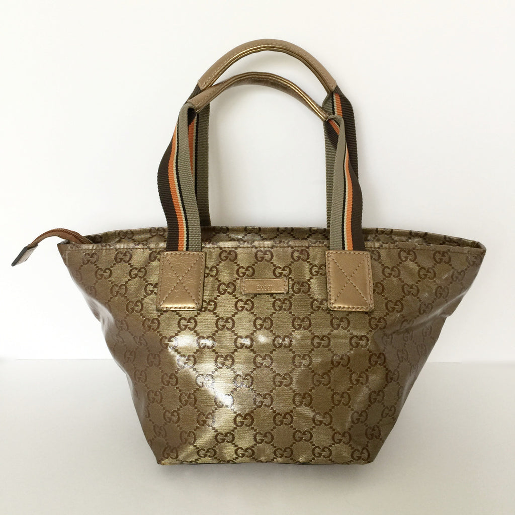 06fb9152b0d0 Authentic GUCCI Crystal Small Tote